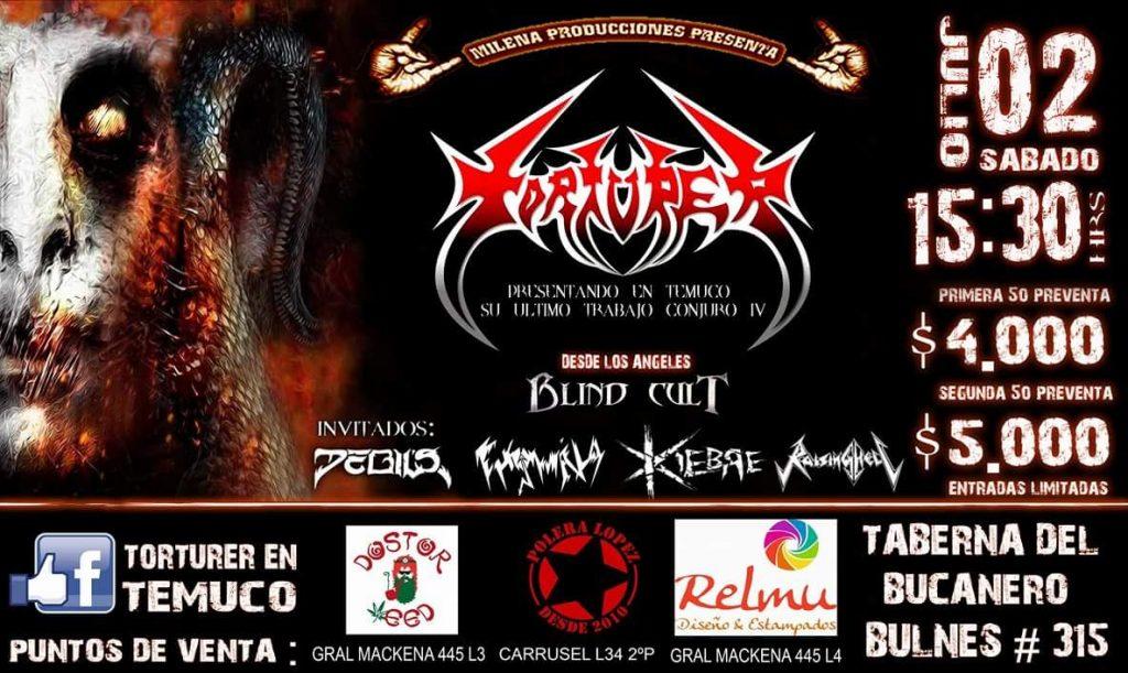 Afiche Torturer en Temuco.